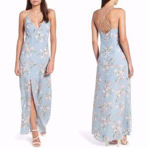 Leith V-Neck Floral-Print Slit Maxi Dress
